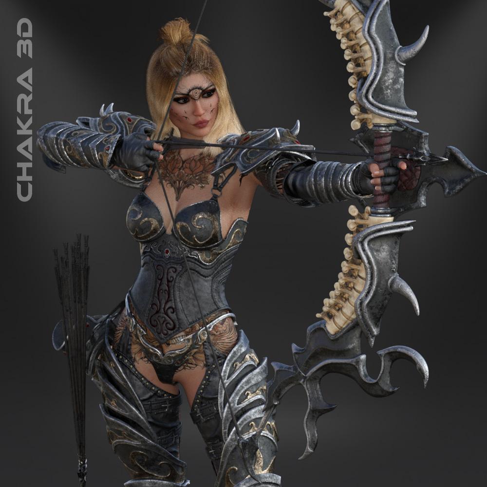 Cinematic 3D Models Sibba Warrior Chakra3D