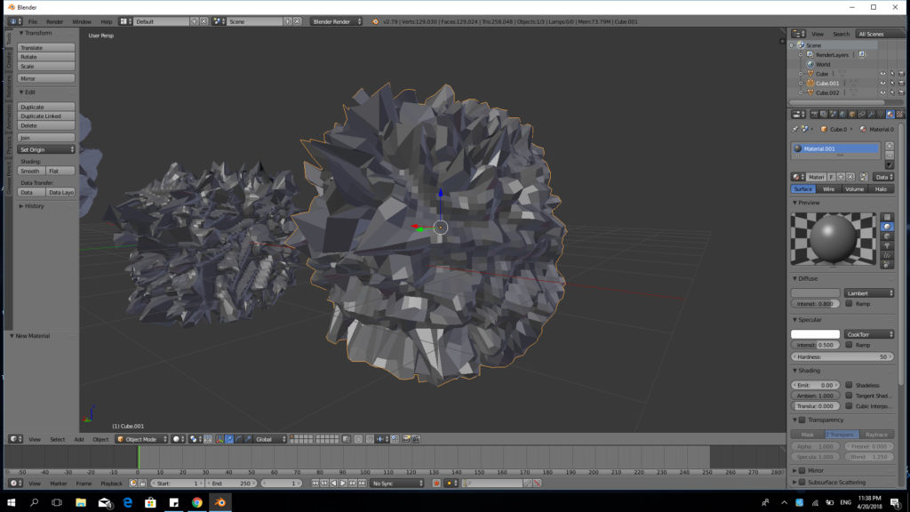3D modeling is the process of creating